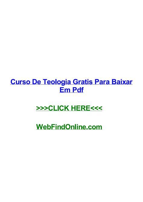 Curso de teologia gratis para baixar em pdf by ...