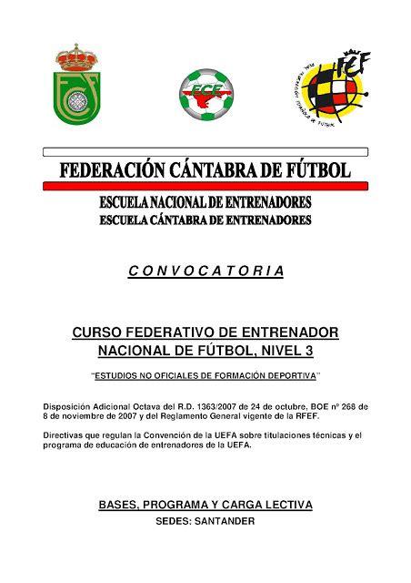 CURSO ENTRENADOR NACIONAL, NIVEL 3