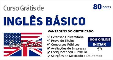 Curso grátis com certificado de Inglês Básico