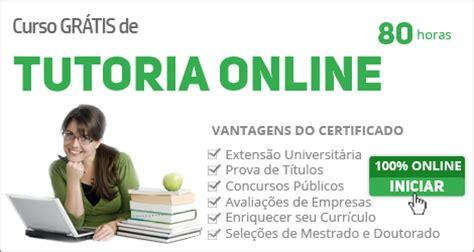 Curso grátis com certificado de Tutoria Online