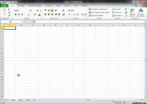Curso gratis de Excel 2010   Abrir Excel 2010 | AulaFacil ...