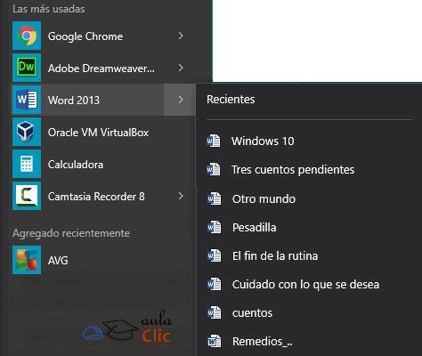 Curso gratis de Windows 10. aulaClic. 3   La interfaz de ...