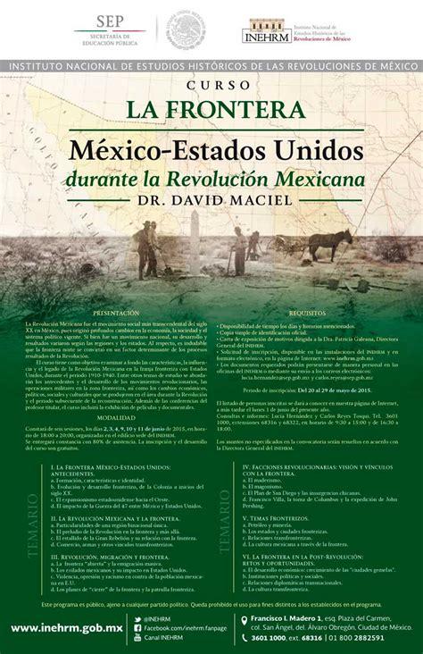 Curso La Frontera México Estados Unidos durante la ...