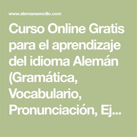 Curso Online Gratis para el aprendizaje del idioma Alemán ...