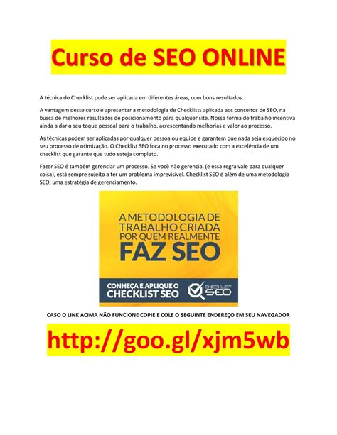 Curso seo download grátis pdf by Download Grátis Completo ...
