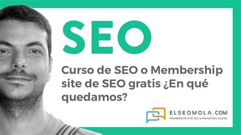 Curso SEO gratis Membership site SEO gratuito   YouTube