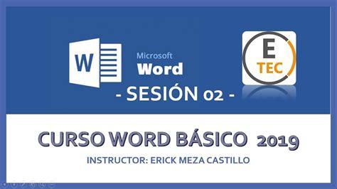CURSO WORD 2019   SESIÓN 02   YouTube