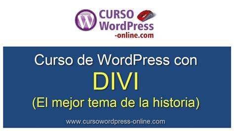 Curso WordPress con Divi  Tutorial en español    YouTube