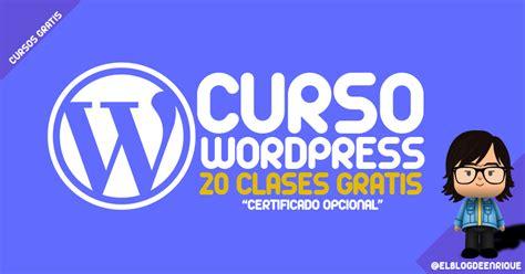 Curso WordPress gratis 2016: Crea tu pagina web o blog sin ...