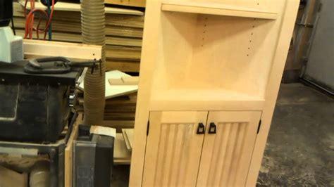 Custom Birch Corner Cabinet   YouTube