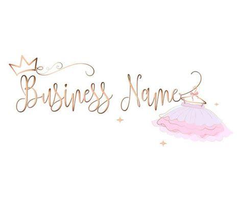 Custom Logo Design   Pink gold Logo   tutu Logo girls ...