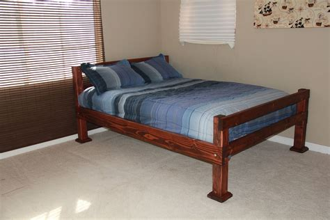 Custom Made Rustic Four Corner Post Full Size Bed by Scott ...