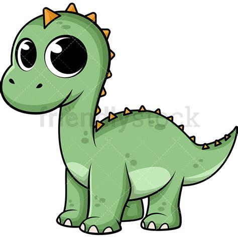 Cute Baby Dinosaur Cartoon Vector Clipart   FriendlyStock