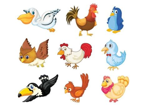Cute cartoon bird 02   vector material_Download free ...