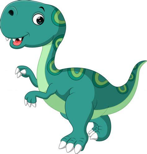 Cute dibujos animados de dinosaurios   Vector Premium
