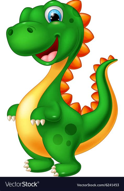 Cute dinosaur cartoon Royalty Free Vector Image