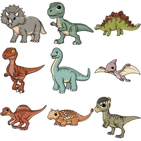Cute Dinosaurs Cartoon Vector Clipart   FriendlyStock
