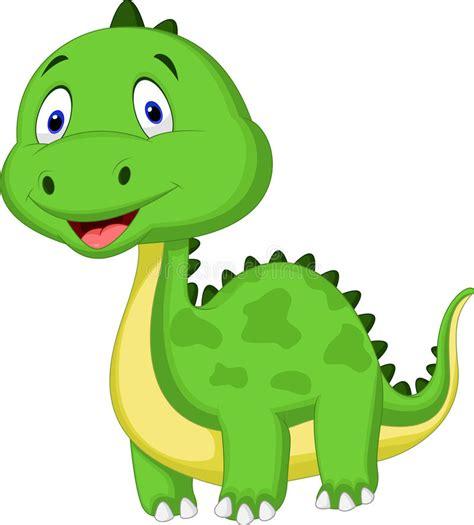 Cute Green Dinosaur Cartoon Stock Vector   Illustration of ...