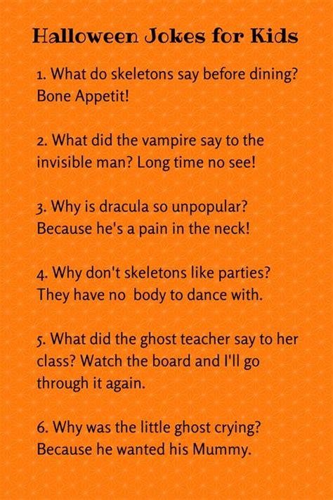 CUTE HALLOWEEN JOKES FOR KIDS   Halloween jokes, Jokes for ...