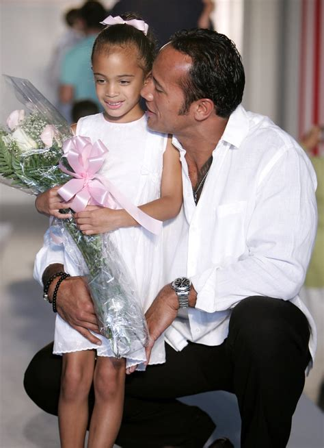 Cute Pictures of Dwayne Johnson and His Blended Family ...