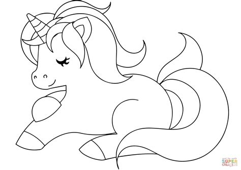 Cute Unicorn coloring page | Free Printable Coloring Pages
