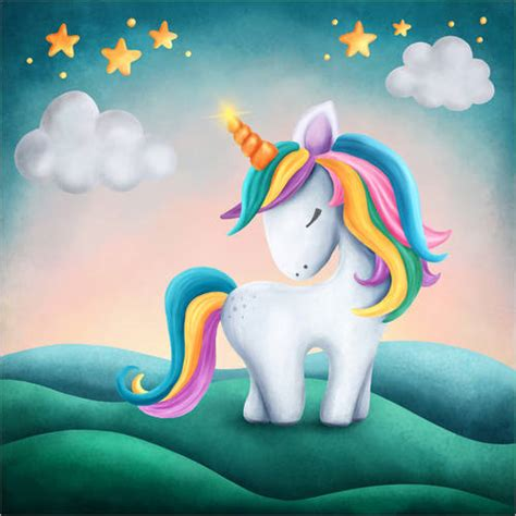 Cute unicorn Posters and Prints | Posterlounge.co.uk