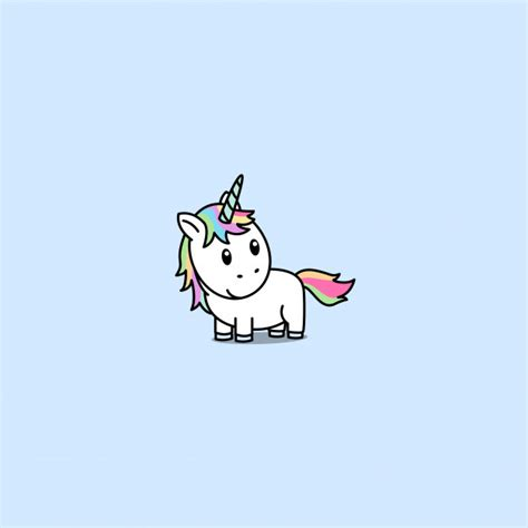 Cute unicornio de dibujos animados   Descargar Vectores ...