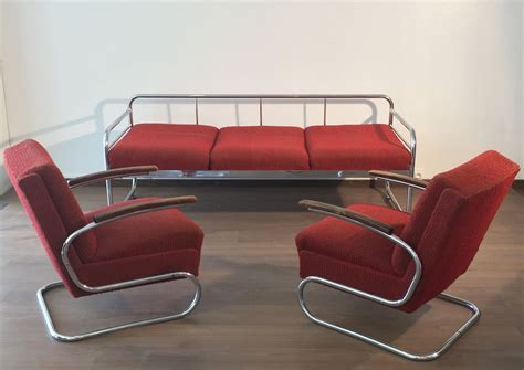 Czech Tubular Modernist Bauhaus Sofa from Slezak Zavody ...