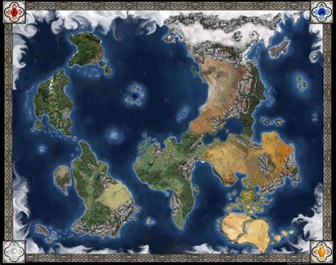 D+D World Map   Kirin by CaffeineHeart.deviantart.com on ...