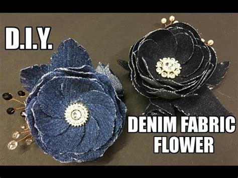 D.I.Y. Denim Fabric Flower Accessory   MyInDulzens   YouTube