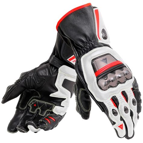 DAINESE Full Metal 6 Black / White / Lava Red Gloves ...