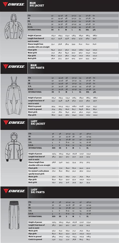 Dainese Leather Jacket Size Chart   Cairoamani.com