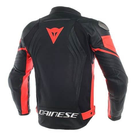 Dainese Racing 3 Perforated Leather Jacket Black Red DA ...