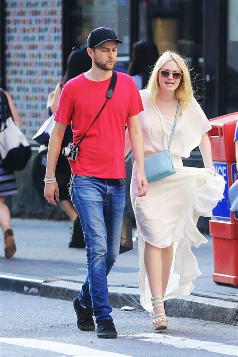 Dakota Fanning and Her Boyfriend Out in NYC   July 2014