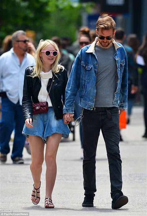 Dakota Fanning co ordinates with boyfriend Jamie Strachan ...