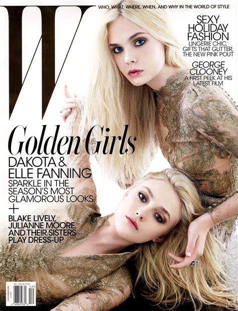 Dakota Fanning & Elle Fanning for W December 2011 ...