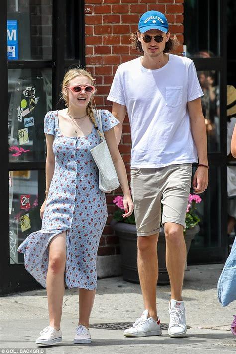 Dakota Fanning steps out in style with boyfriend Henry ...