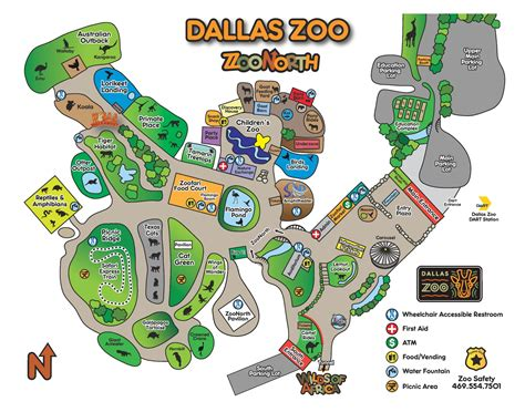 Dallas zoo map and travel information   Download free ...
