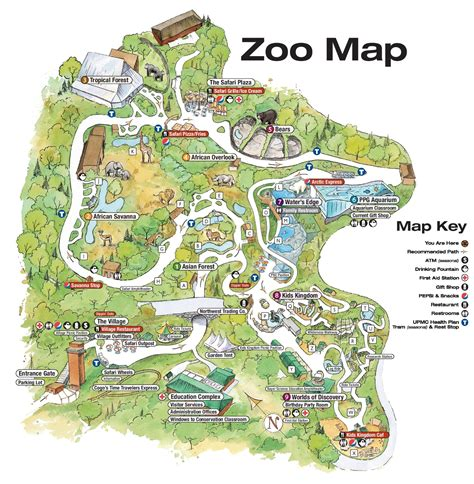 Dallas zoo map and travel information | Download free ...