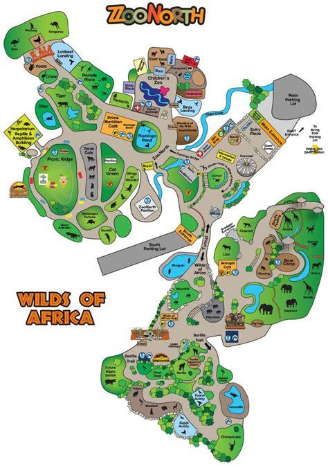 Dallas zoo map   Map of Dallas zoo  Texas   USA