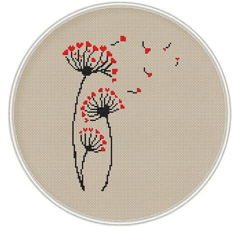 Dandelion cross stitch pattern, Counted cross stitch ...