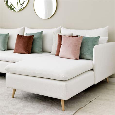 Danko sofá tapizado blanco  Kenay Home