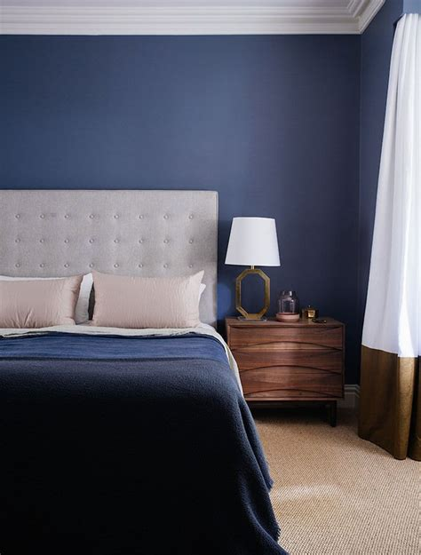 dark blue bedroom   arent and pyke design | Style   Mid ...