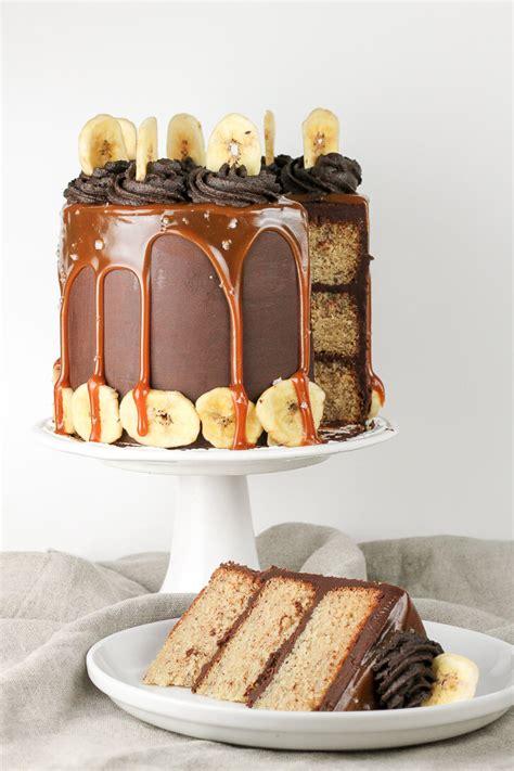 Dark Chocolate and Salted Caramel Banana Layer Cake ...
