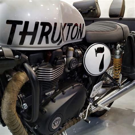 Datos de la motocicleta custom Triumph Thruxton 1200R del ...