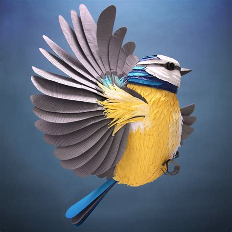 Dazzling Three Dimensional Paper Sculptures of Birds, Bees ...