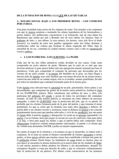 De La Fundacion de Roma a La Ley de Las Xii Tablas ...