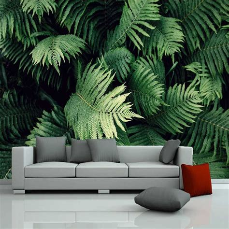 De Papel pintado con foto 3D planta Tropical verde Mural ...
