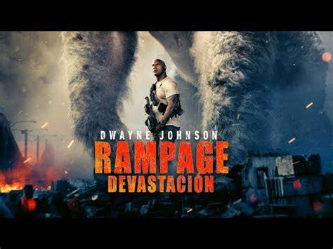 De Película W de Rampage con Dwayne Johnson  La Roca ...