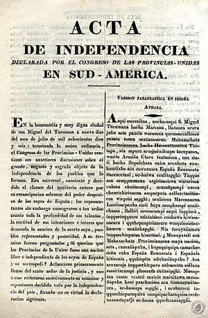 Declaración de independencia de la Argentina   Wikipedia ...